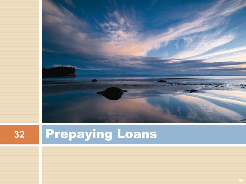 Prepaying Loans 32