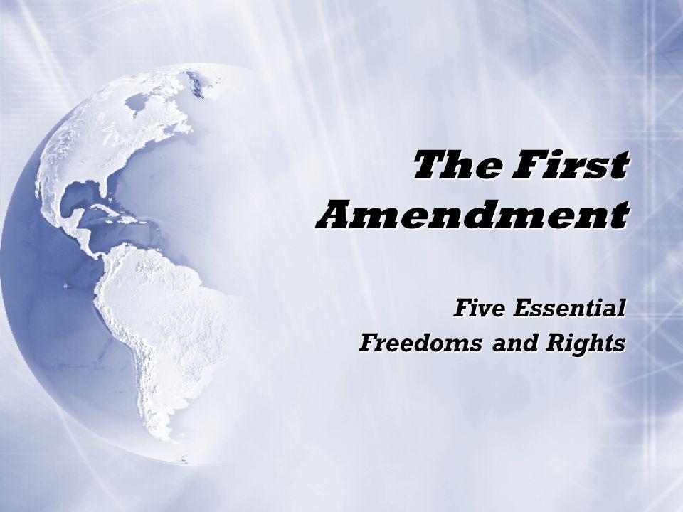 Freedom of Speech Congress shall make no laws... abridging the freedom of speech