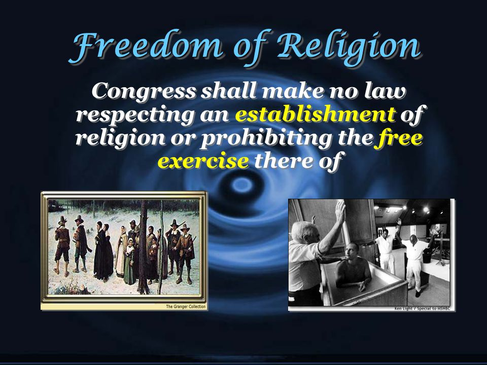Freedom of the Press Congress shall make no law...