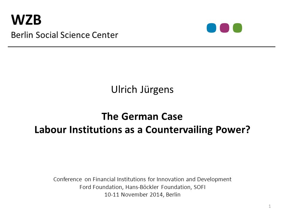 Characteristics of German Corporate Governance & Innovation Systems Corporate Governance Weak capital market exposure; patient capital Technical orientation of business leaders Strategic role of banks and supervisory boards Co-determination of labour Innovation System R&D intensive Industry (medium-high tech) dominated Incremental rather than disruptive 2 What Impact has Financialization?