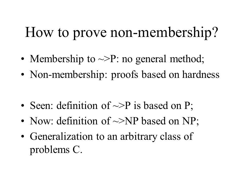 How to prove non-membership.