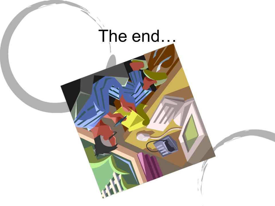 The end…