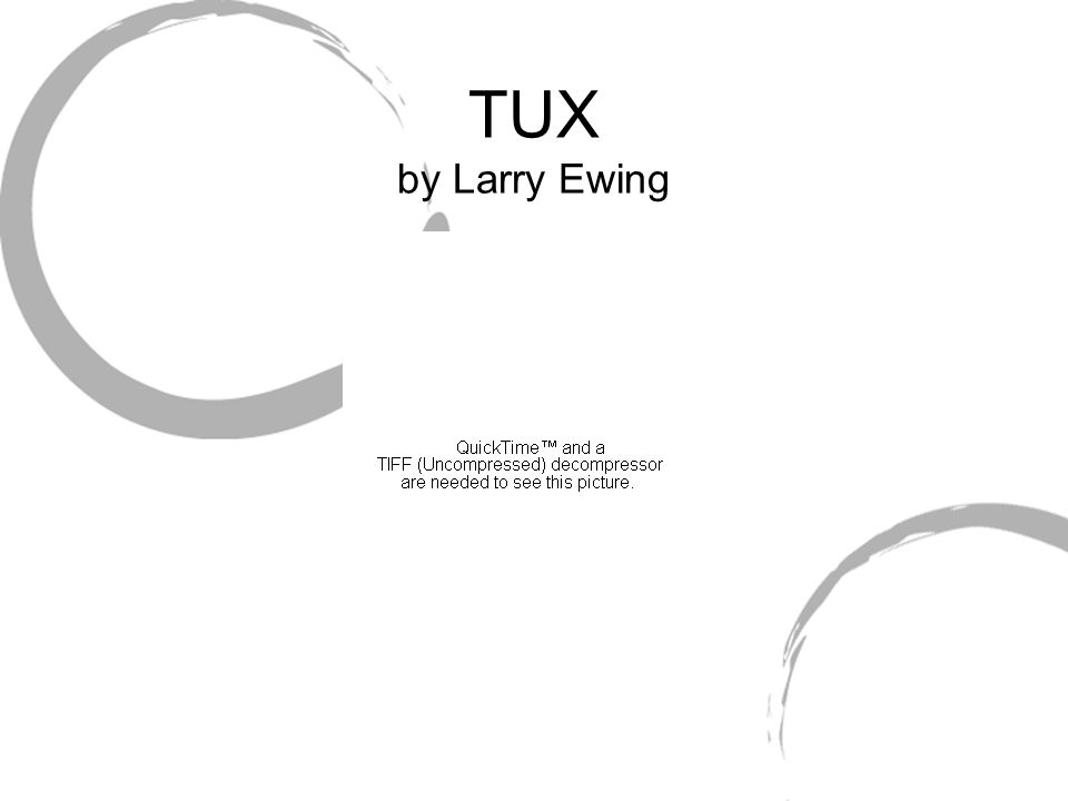 TUX by Larry Ewing