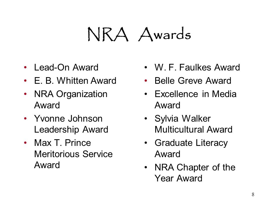 9 NRA Divisions: Something for Everyone s Interests.