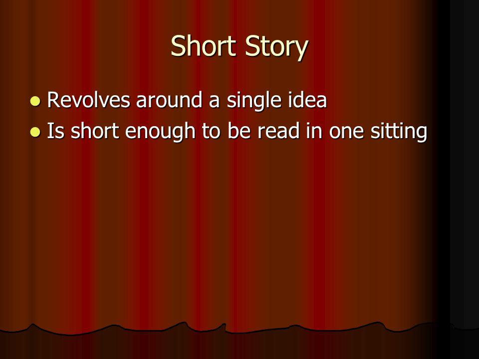 2 Forms of Fiction Short Story Short Story Novel Novel