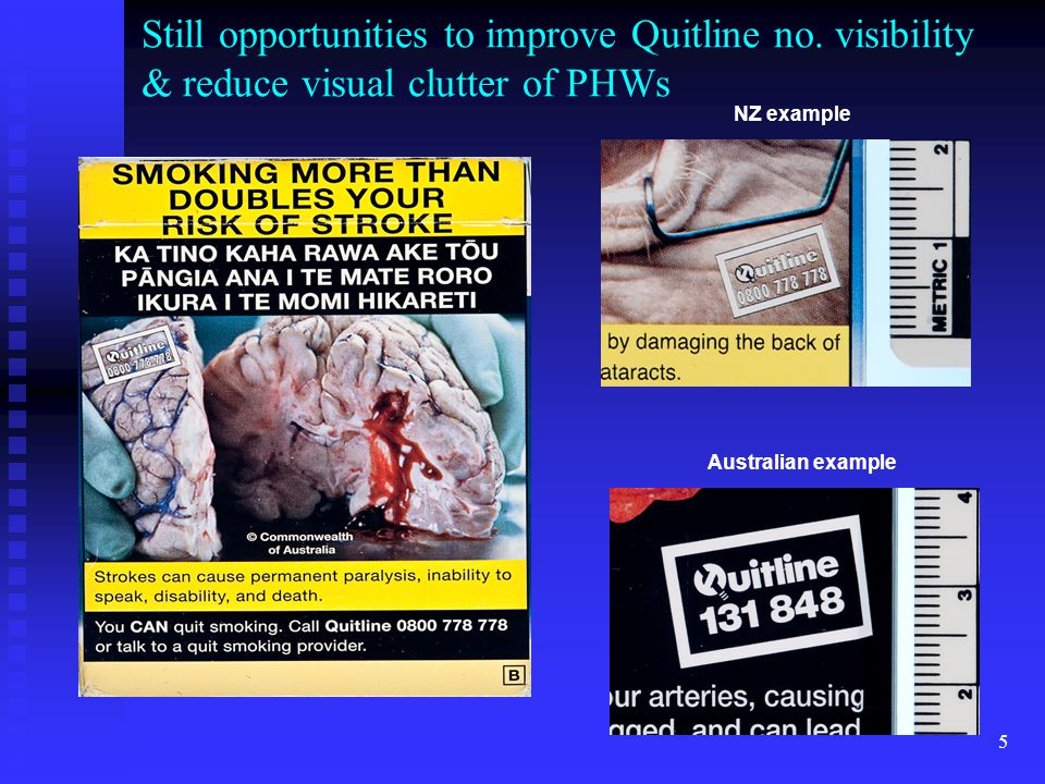 5 Still opportunities to improve Quitline no.