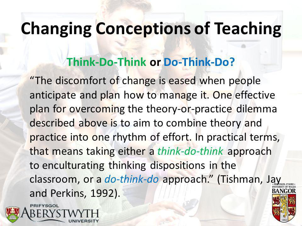 Changing Conceptions of Teaching Think-Do-Think or Do-Think-Do.