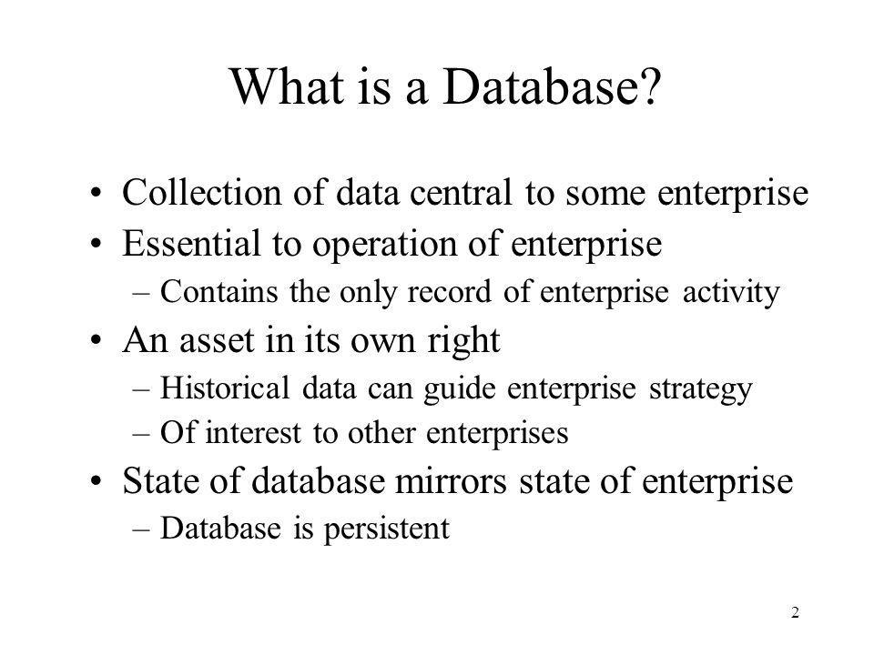 3 What is a Database Management System.
