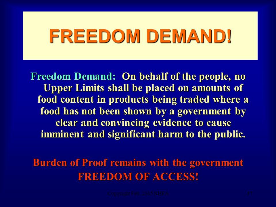 Copyright Feb. 2005 NHFA57 FREEDOM DEMAND.