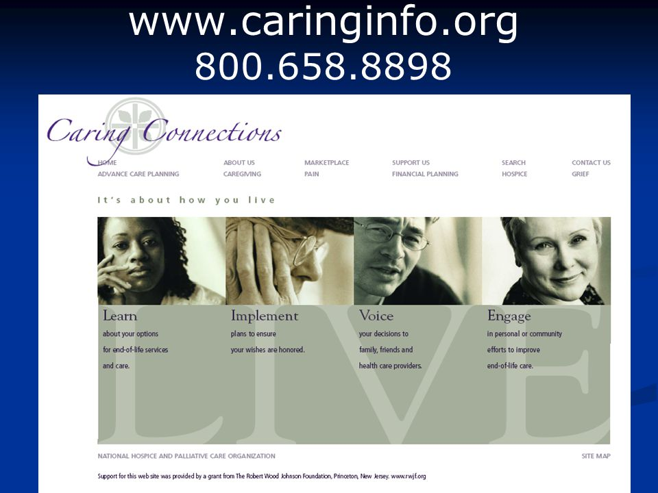 Insert your organization's logo here. www.caringinfo.org 800.658.8898