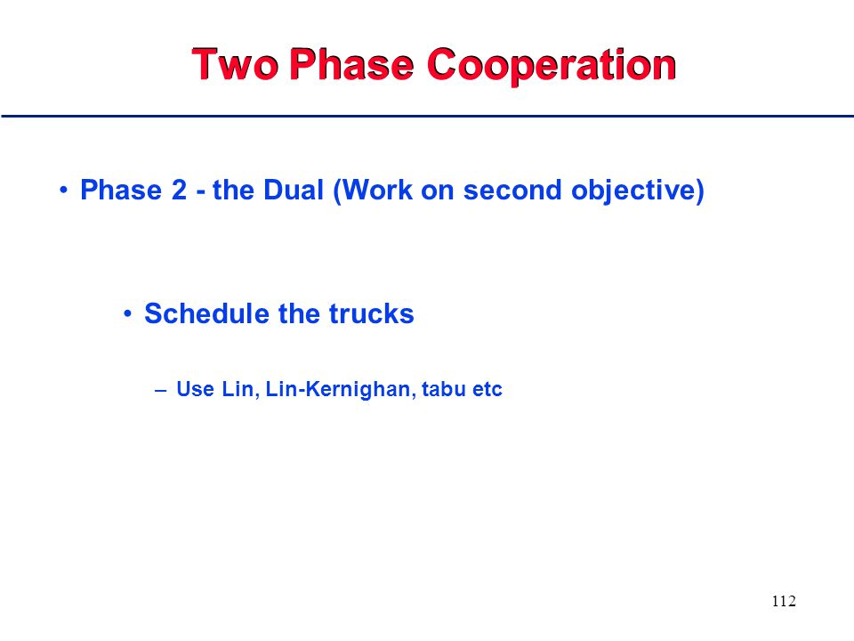 111 Two Phase Cooperation Machines morph into trucks