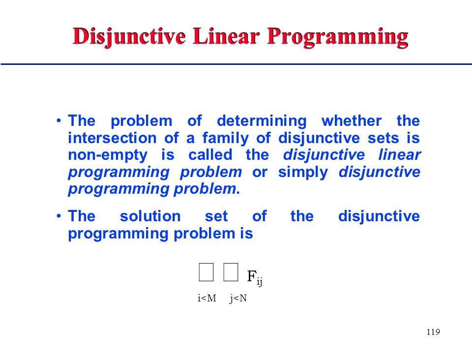 118 Disjunctive Set