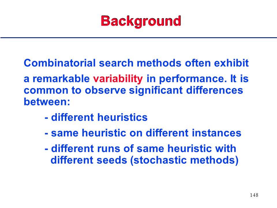 147 III. Exploiting Randomization to Solve Hard Combinatorial Problems