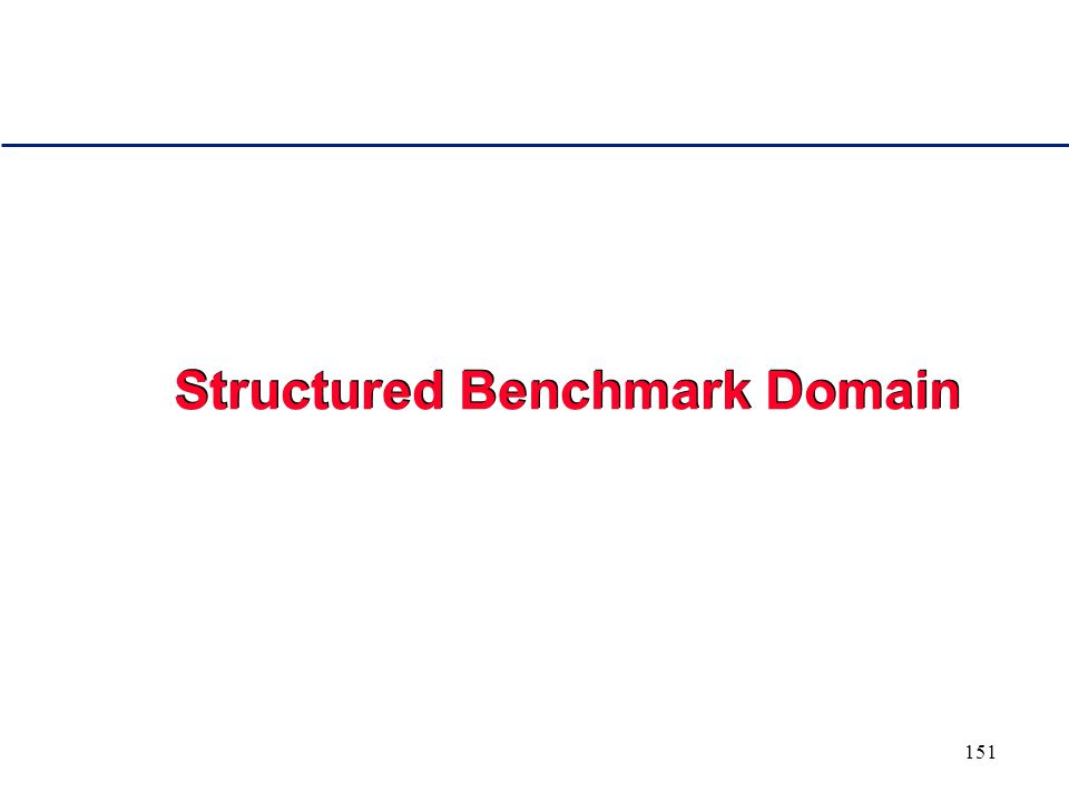150 A Structured Benchmark Domain for Studying the Distributions of Search Methods Stochasticity in Search Procedures Intriguing Properties of Complete Backtrack Style Algorithms Consequences for Algorithm Design - Rapid Randomized Restarts Portfolio of Algorithms