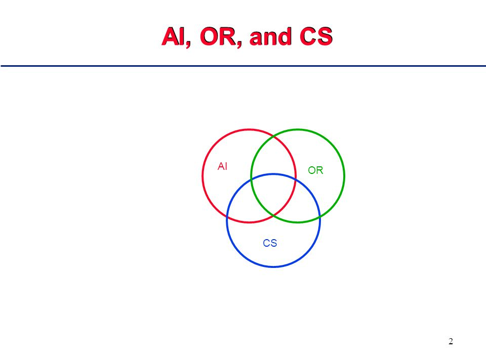 2 AI, OR, and CS AI OR CS