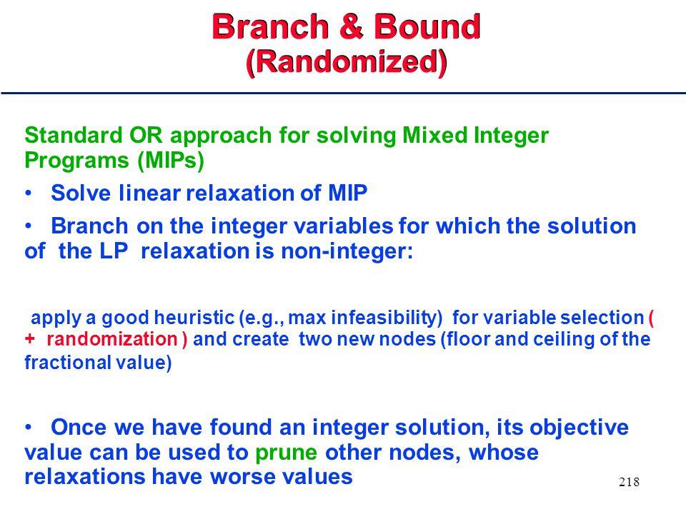 217 Branch & Bound: Best Bound vs. Depth First Search
