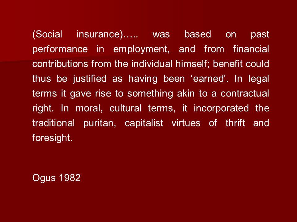 (Social insurance)…..