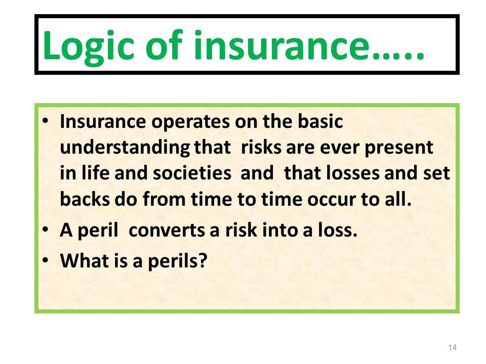 Logic of insurance…..