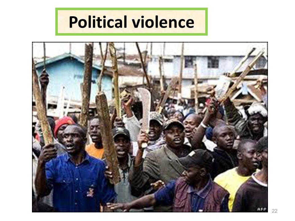 Political violence 22