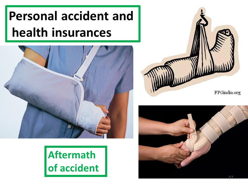 Personal accident and health insurances Aftermath of accident 57