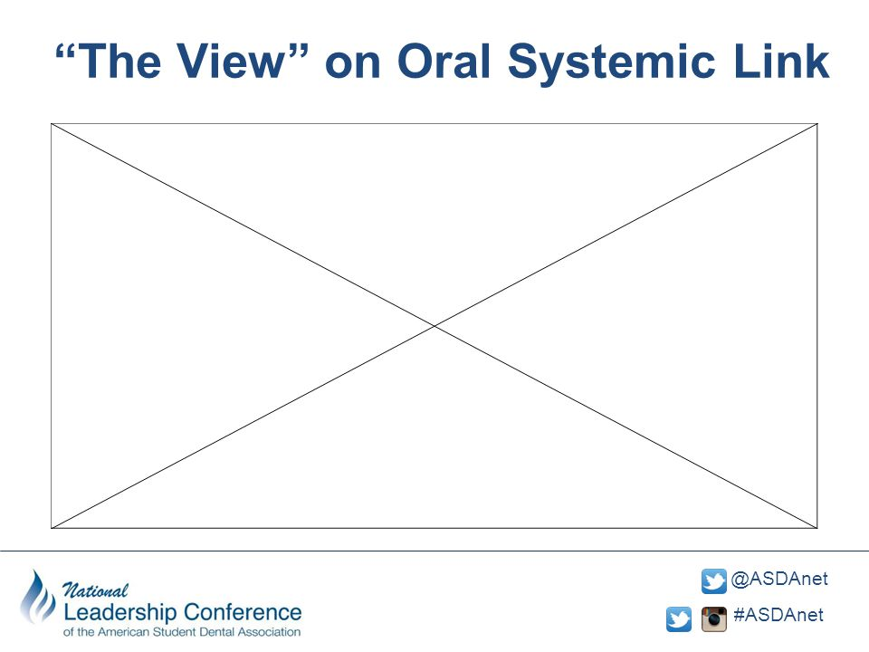 "#ASDAnet @ASDAnet https://www.youtube. com/watch?v=XLDL8Nh NxWAhttps://www.youtube. com/watch?v=XLDL8Nh NxWA ""The View"" on Oral Systemic Link"