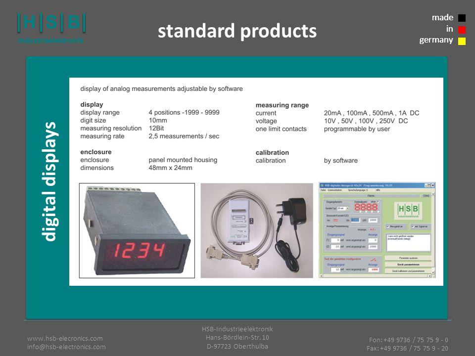 Fon: +49 9736 / 75 75 9 - 0 Fax: +49 9736 / 75 75 9 - 20 HSB-Industrieelektronik Hans-Bördlein-Str.