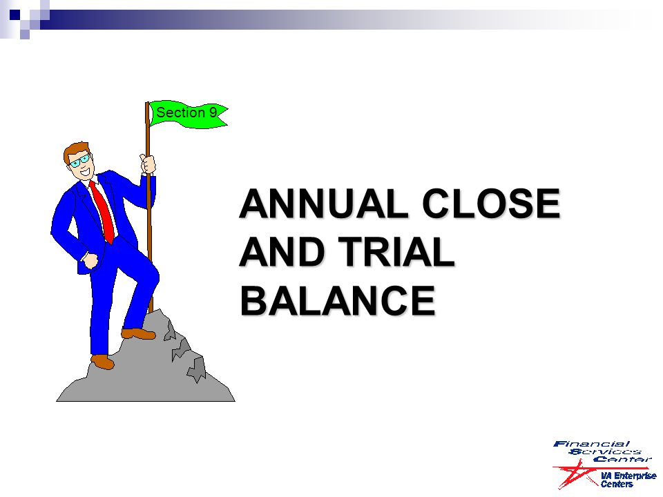 ANNUAL CLOSE AND TRIAL BALANCE Section 9