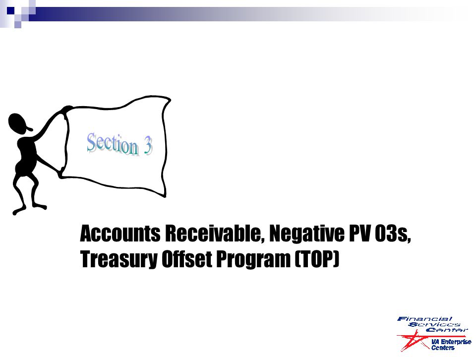 Accounts Receivable, Negative PV 03s, Treasury Offset Program (TOP)