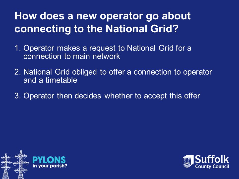 How does a new operator go about connecting to the National Grid.