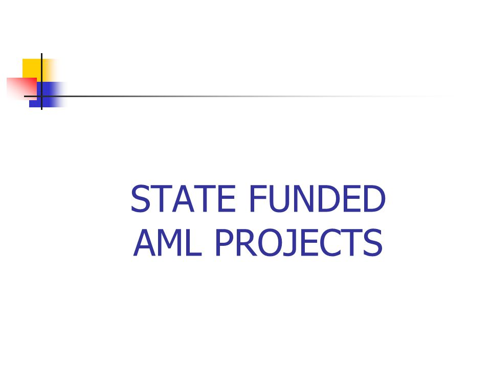 STATE FUNDED AML PROJECTS