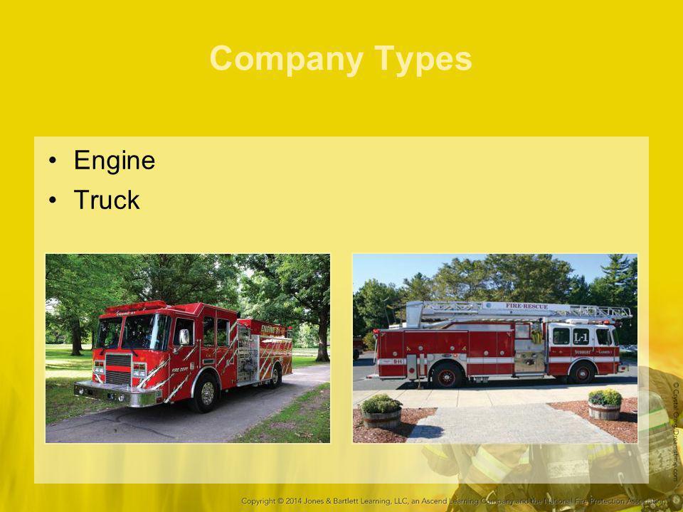 Company Types Engine Truck