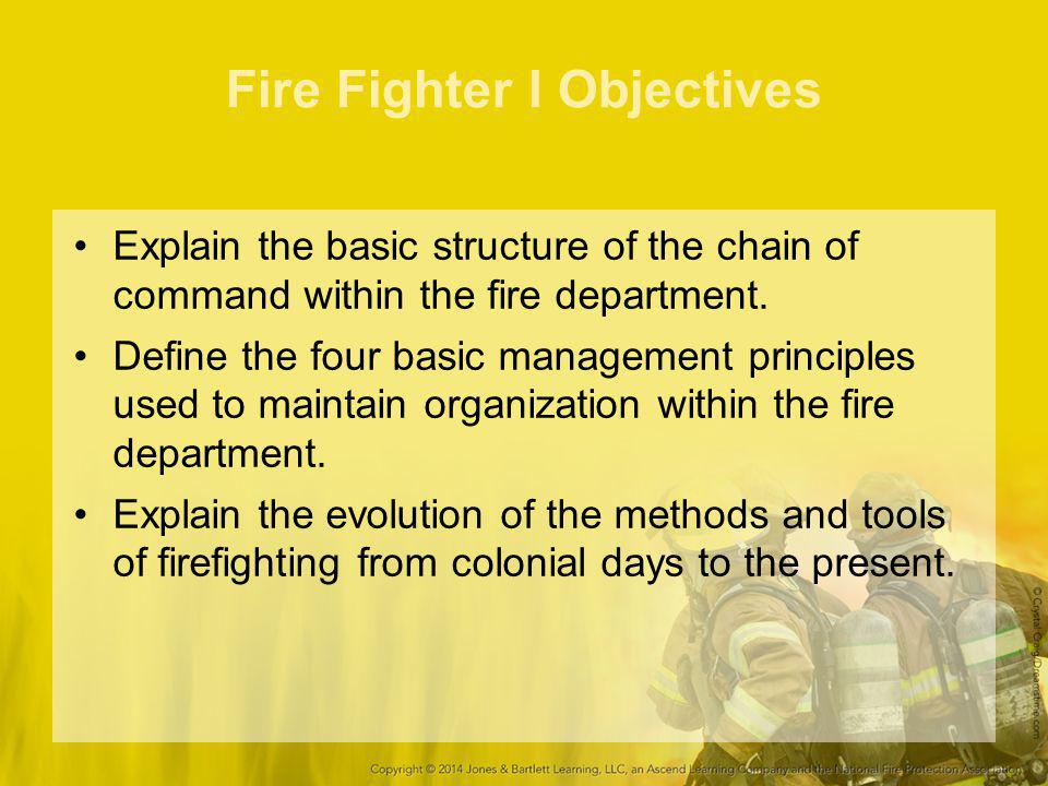 Roles and Responsibilities for Fire Fighter I Conserve property with salvage tools.