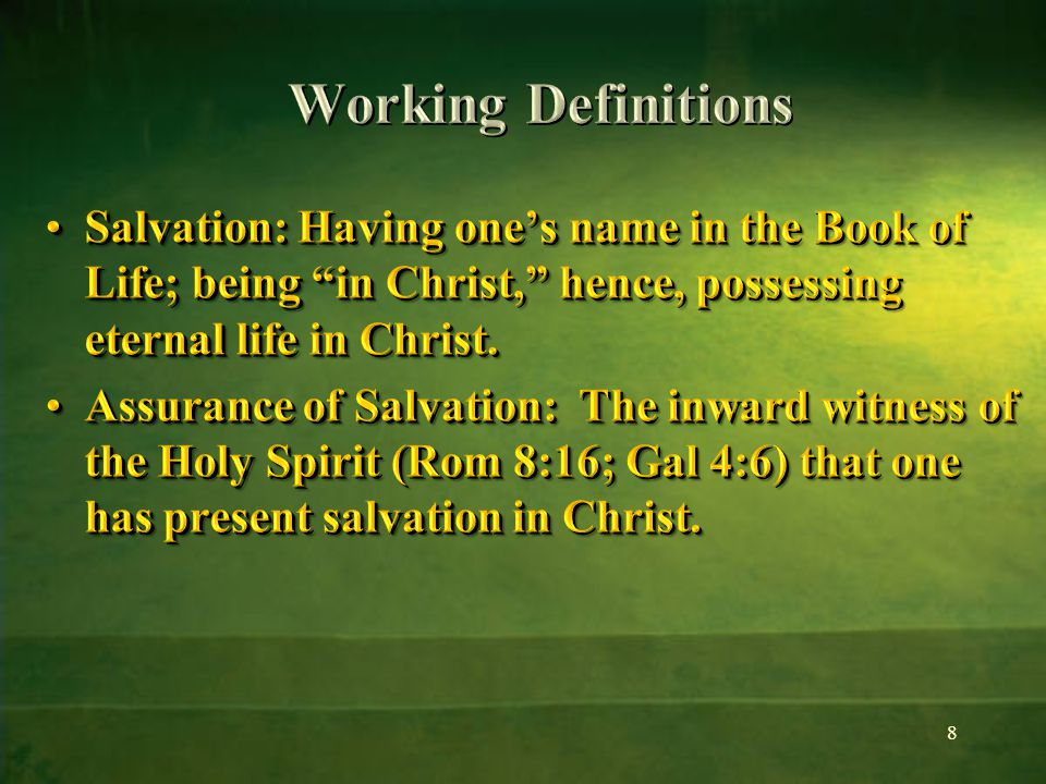 If Christ is dwelling in the heart [step 2], it is impossible to conceal His presence (MB 41) This impossibility of concealing the divine life in the soul is the consideration that explains Ellen White's frequent emphasis on the external evidence of salvation If Christ is dwelling in the heart [step 2], it is impossible to conceal His presence (MB 41) This impossibility of concealing the divine life in the soul is the consideration that explains Ellen White's frequent emphasis on the external evidence of salvation 69