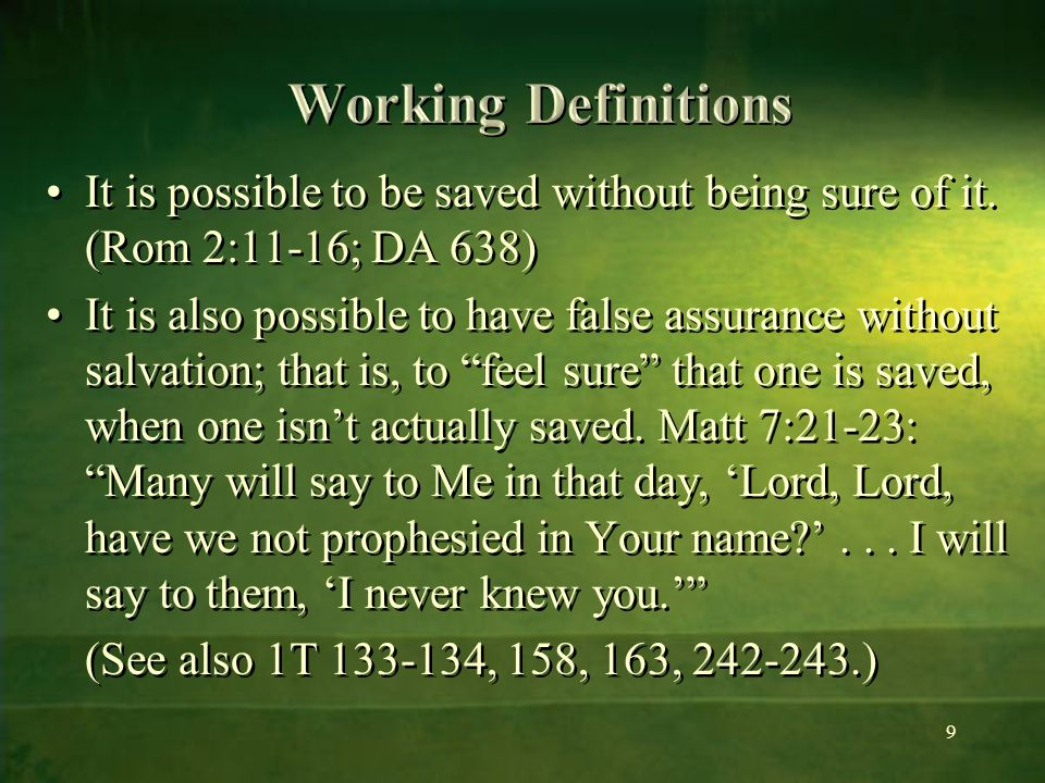 right with God today, and ready if Christ should come today Those who come to God daily, trusting in His love, feeding on His word, and submitting themselves to His loving discipline, are right with God today, and ready if Christ should come today (HP 227).