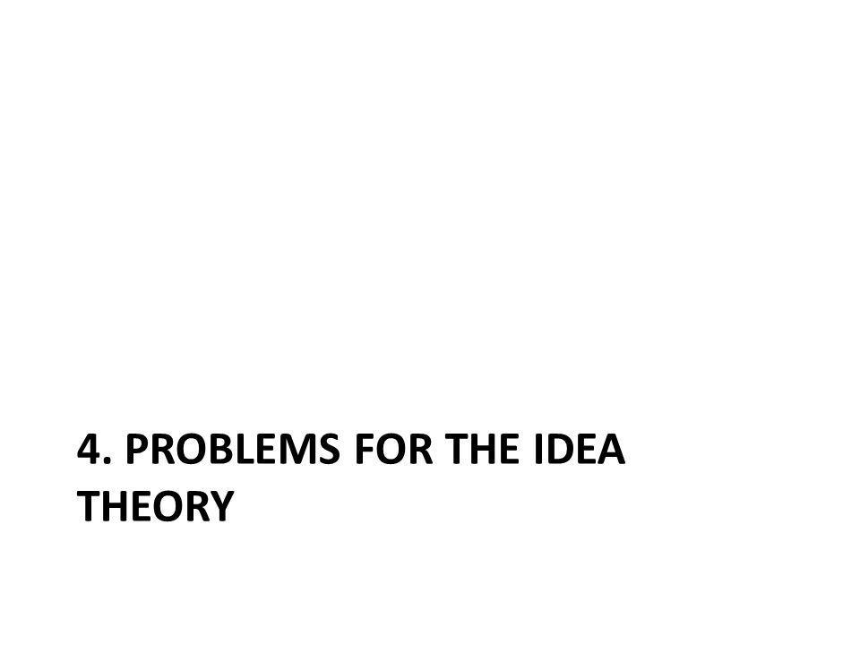 4. PROBLEMS FOR THE IDEA THEORY