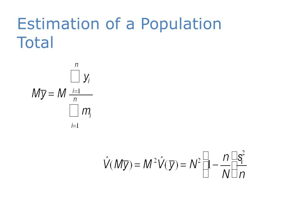 Estimation of a Population Total