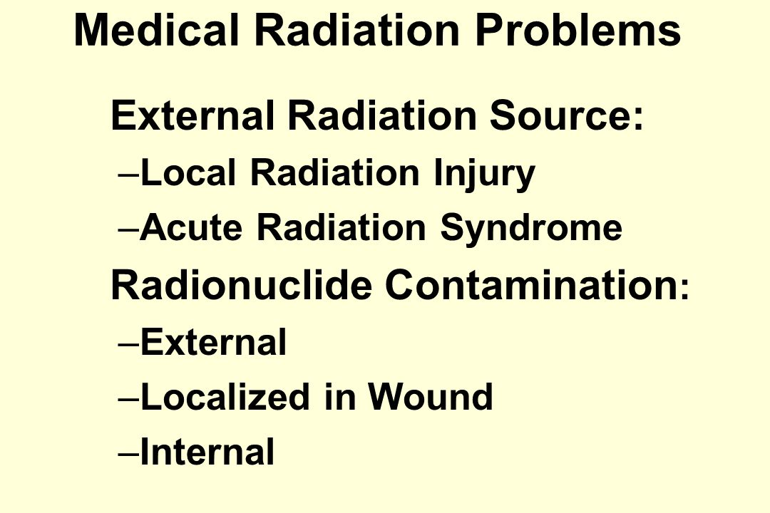 Local Radiation Injury Diagnosis Inspection: Erythema Blood Flow: Thermography; Isotope scanning ( 201 Tl scintigraphy); Skin laser Doppler.