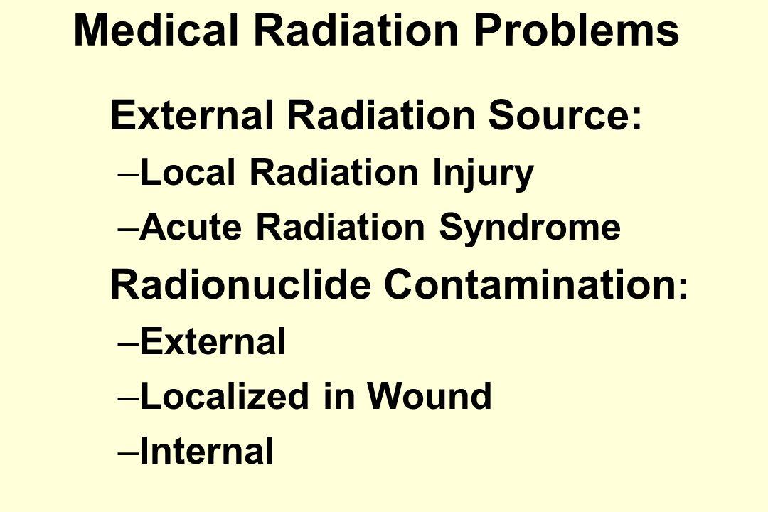 LOCAL RADIATION INJURY: RADIODERMATITIS TypeManifestation IErythema IITransepidermal Injury IIIDermal Radionecrosis IVChronic Radiodermatitis