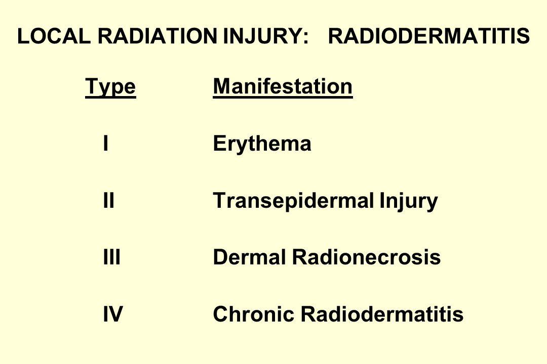 Local Injury: Transepidermal (Beta Radiation + Thermal Burns)