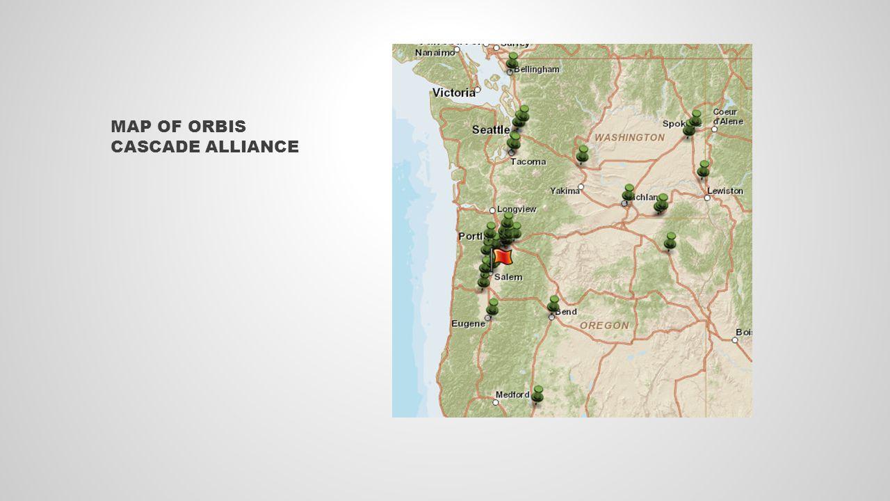 MAP OF ORBIS CASCADE ALLIANCE