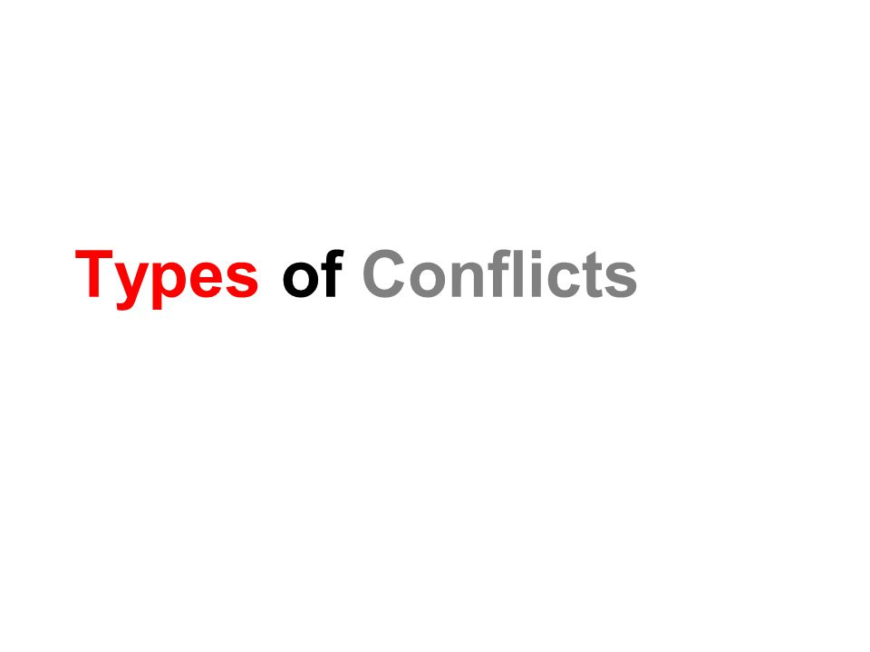 Types of Conflicts
