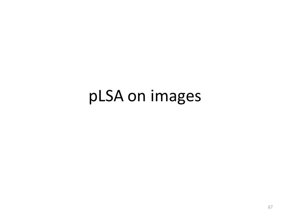 pLSA on images 67