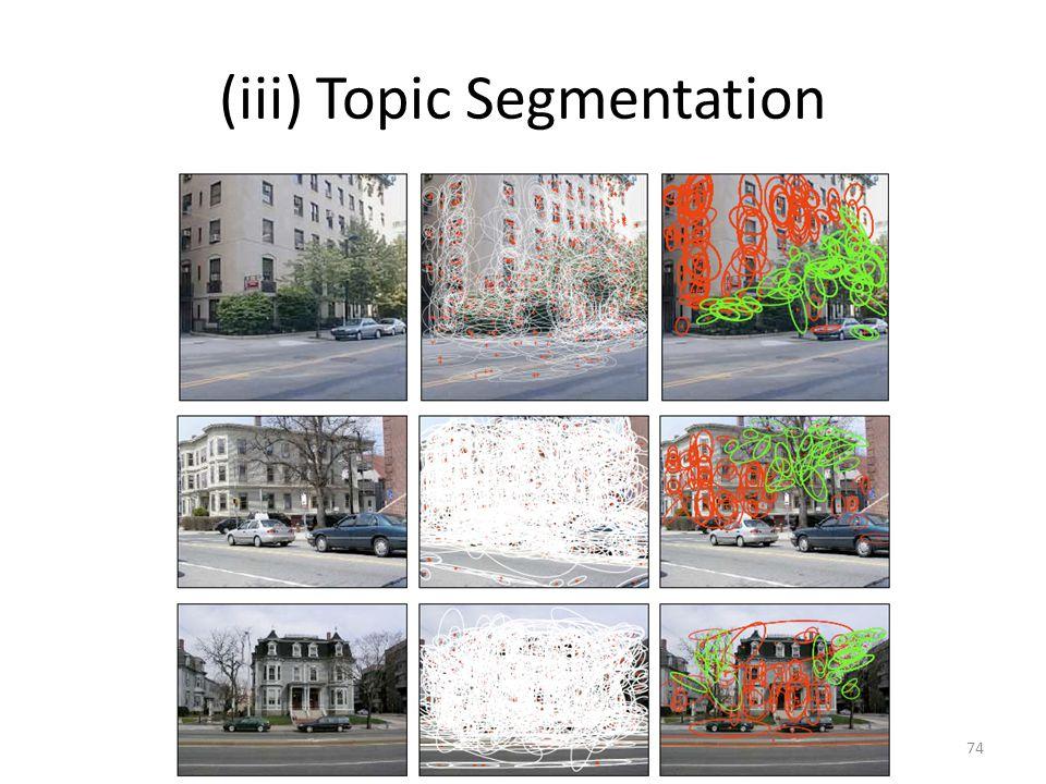 (iii) Topic Segmentation 74