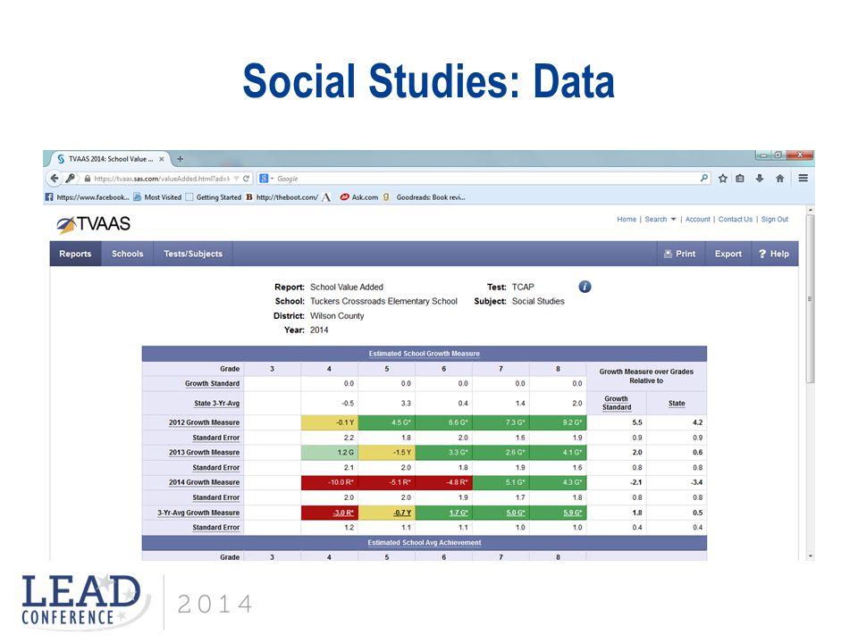 Social Studies: Data