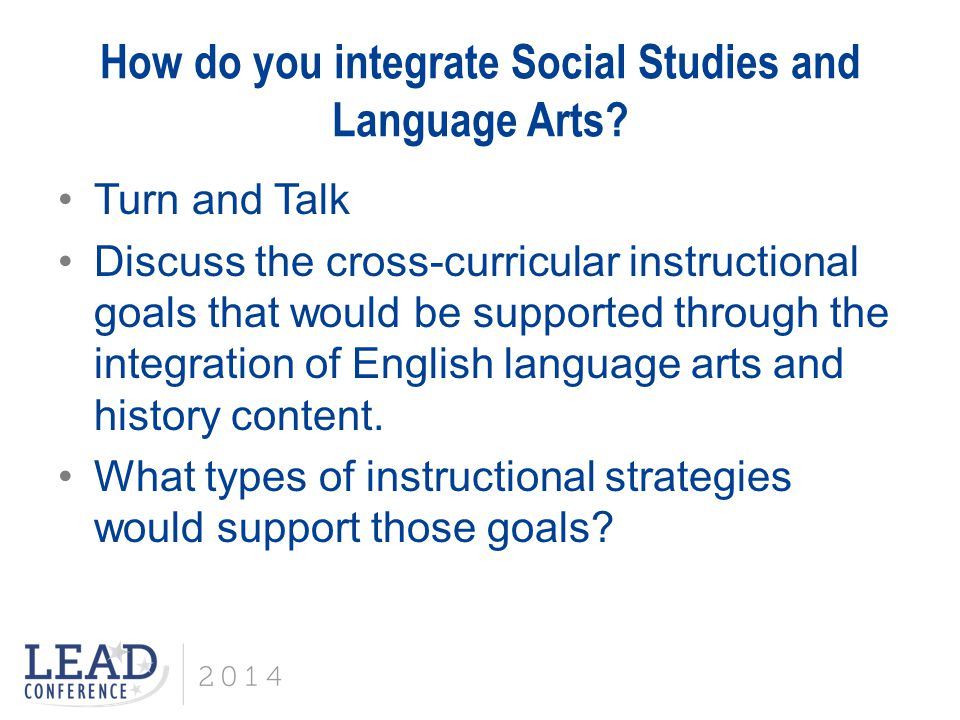 How do you integrate Social Studies and Language Arts.