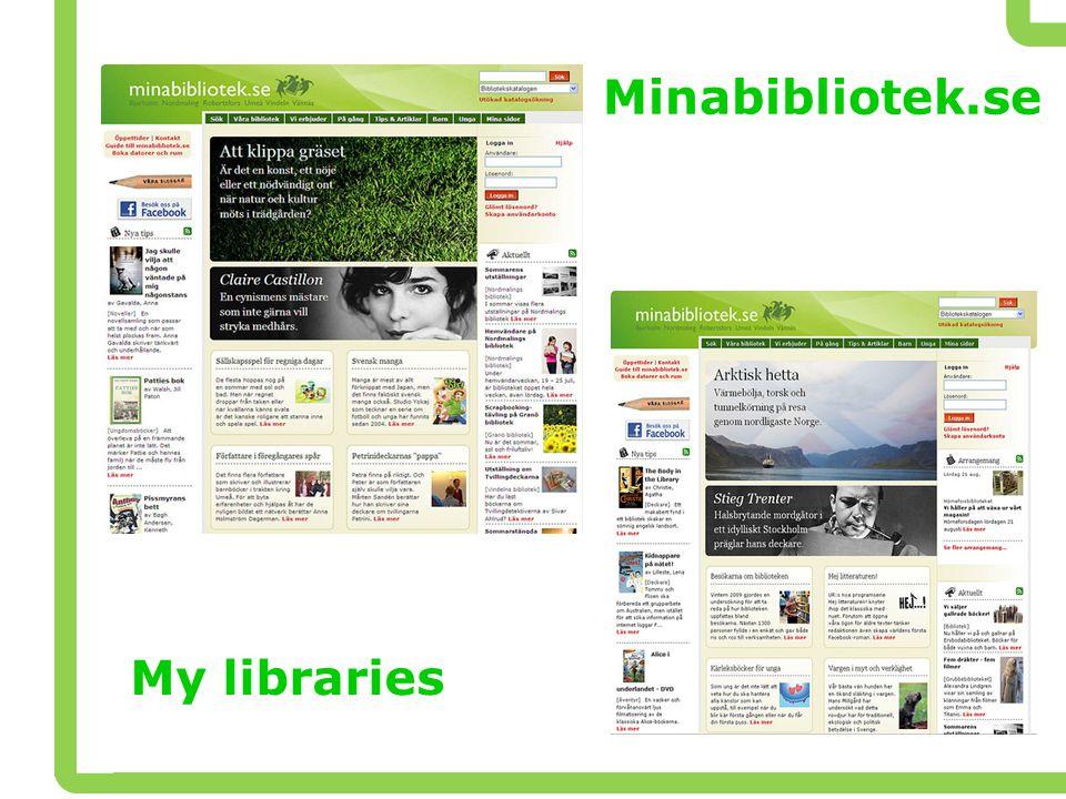 Minabibliotek.se My libraries