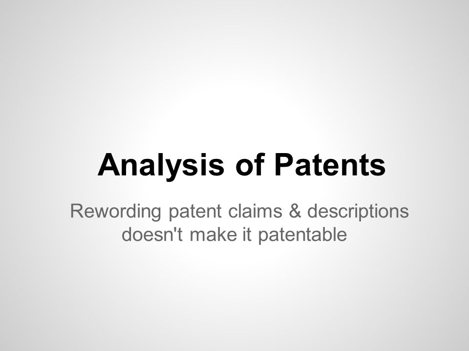 USPTO Bulk Data downloadable via Google Large storage arrays (4TB+) start at under $300 Amazon EC2 reduces the barriers to entry Code makes a difference - start programming Patent Analysis