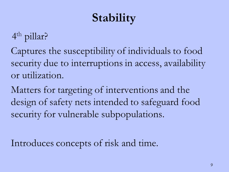 Stability 4 th pillar.