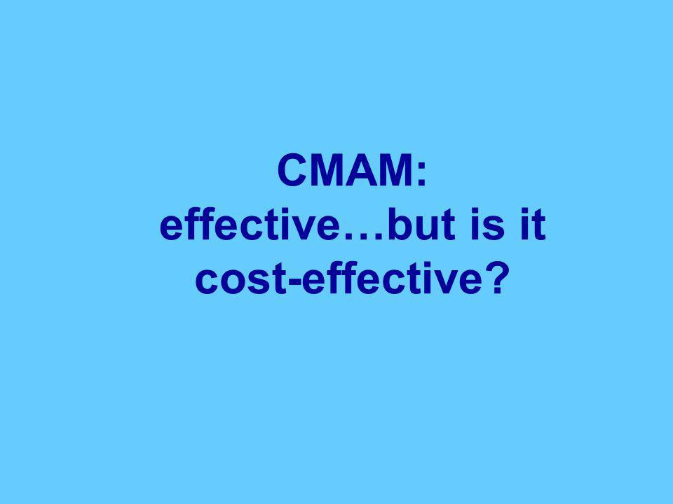 CMAM: effective…but is it cost-effective?