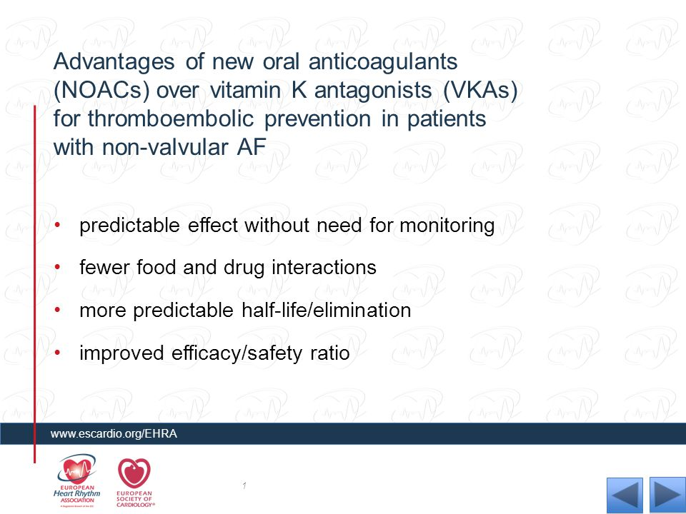 Advantages of new oral anticoagulants (NOACs) over vitamin K antagonists (VKAs) for thromboembolic prevention in patients with non-valvular AF predict